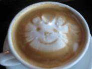 Latte art by Bridget.  She doesn't even like cats.  How's that for service!